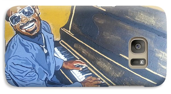 Galaxy Case featuring the painting Stevie Wonder by Rachel Natalie Rawlins