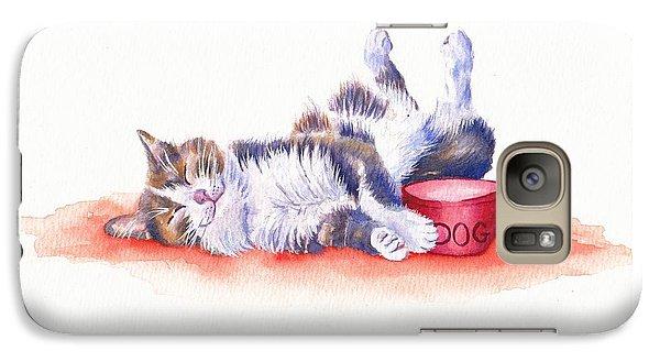 Cat Galaxy S7 Case - Stolen Lunch by Debra Hall