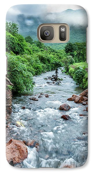 Galaxy Case featuring the photograph Stream by Charuhas Images