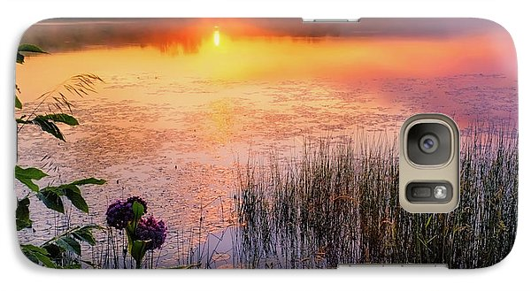Galaxy Case featuring the photograph Summer Sunrise Square by Bill Wakeley