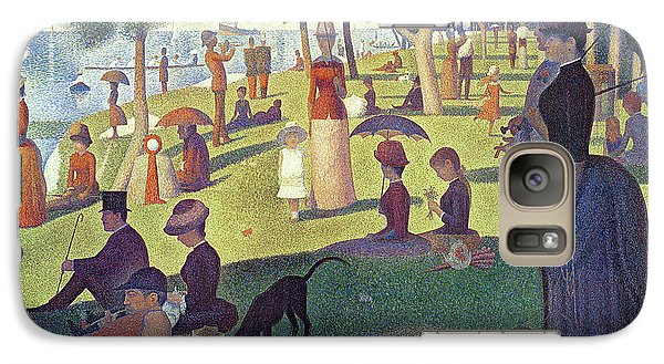 Sunday Afternoon On The Island Of La Grande Jatte Galaxy Case by Georges Pierre Seurat