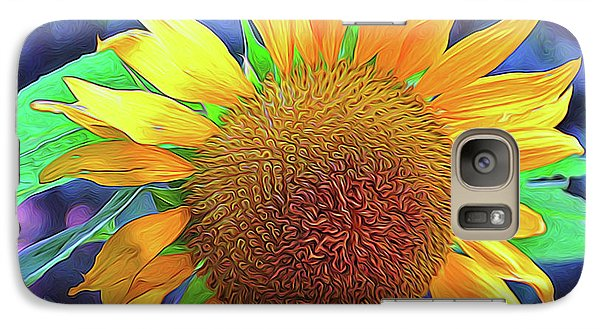 Galaxy Case featuring the photograph Sunflower by Allen Beatty
