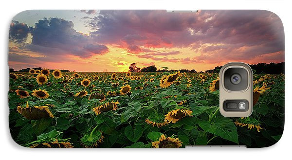 Galaxy Case featuring the photograph Sunflower Field  by Emmanuel Panagiotakis