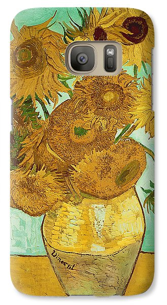 Sunflowers Galaxy Case by Vincent Van Gogh