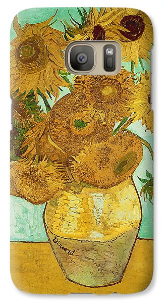 Sunflower Galaxy S7 Case - Sunflowers By Van Gogh by Vincent Van Gogh