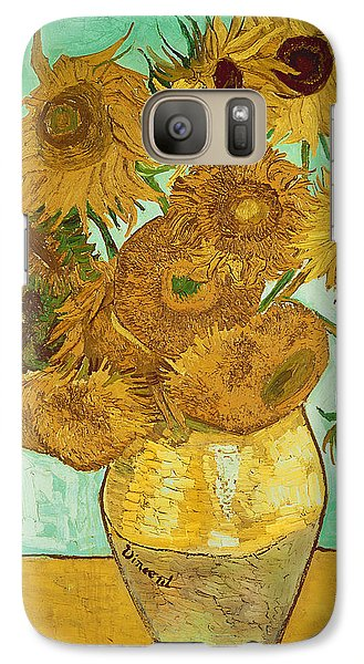 Sunflower Galaxy S7 Case - Sunflowers By Van Gogh by Vincent Van Gogh