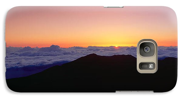 Sunrise Over Haleakala Volcano Summit Galaxy Case by Panoramic Images