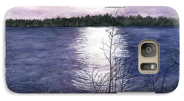 Galaxy Case featuring the painting Sunset At Niagara River New York by Melly Terpening