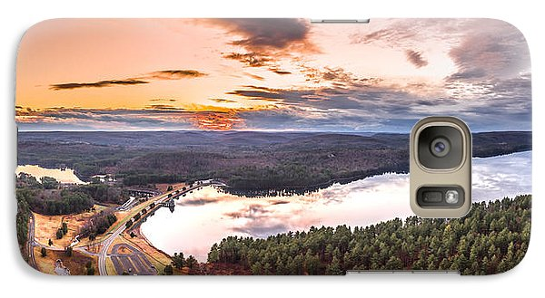 Galaxy Case featuring the photograph Sunset At Saville Dam - Barkhamsted Reservoir Connecticut by Petr Hejl