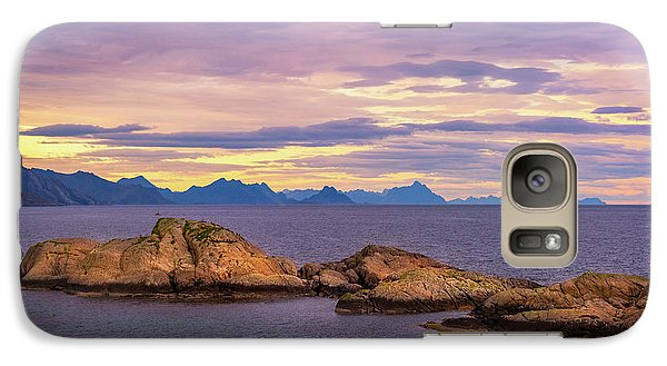 Galaxy Case featuring the photograph Sunset In The North by Maciej Markiewicz