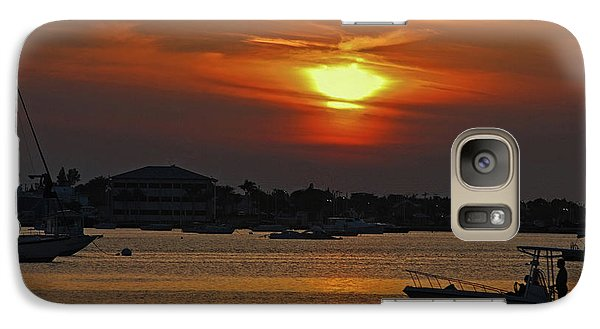 Galaxy Case featuring the photograph 1- Sunset Over The Intracoastal by Joseph Keane