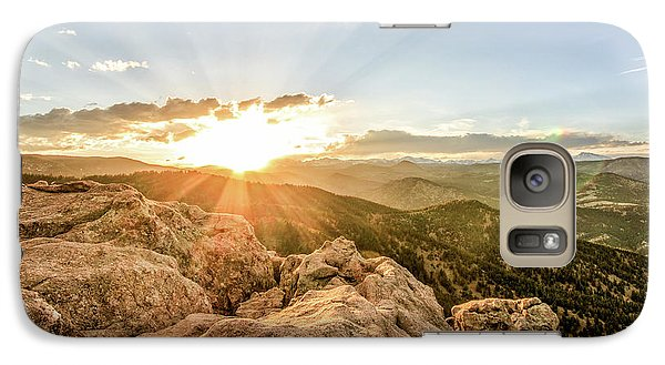 Galaxy Case featuring the photograph Sunset Over The Mountains Of Flaggstaff Road In Boulder, Colorad by Peter Ciro