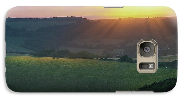 Sunset Over The South Downs Galaxy S7 Case