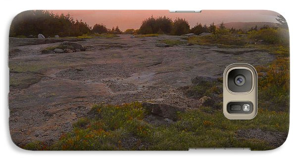 Galaxy Case featuring the photograph Sunset Through Fog by Stephen  Vecchiotti