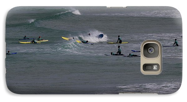 Galaxy Case featuring the photograph Photographs Of Cornwall Surfers At Fistral by Brian Roscorla