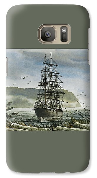 Galaxy Case featuring the painting Tall Ship Cove by James Williamson