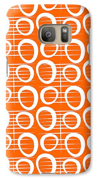 Tangerine Loop Galaxy S7 Case by Linda Woods