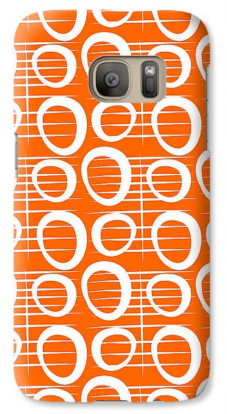 Tangerine Loop Galaxy Case by Linda Woods
