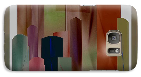 Galaxy Case featuring the digital art The Block by John Krakora