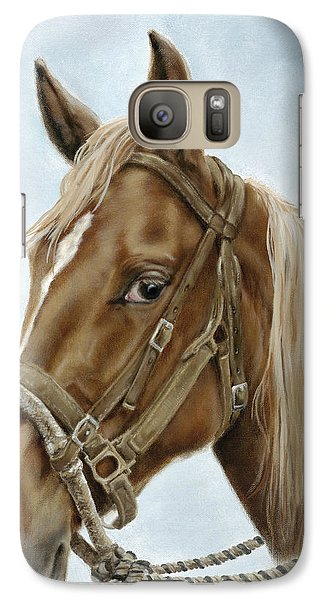 Galaxy Case featuring the painting The Boss' Mount by Cathy Cleveland