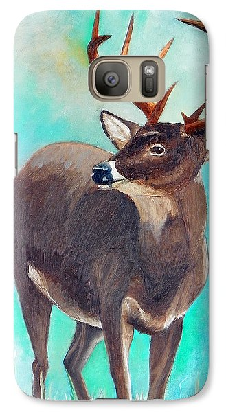 Galaxy Case featuring the painting the Buck Stops Here by Sherril Porter