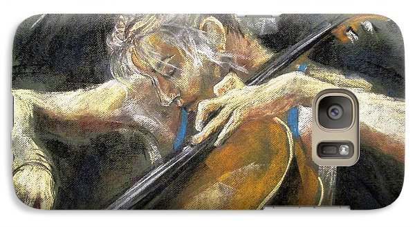 Galaxy Case featuring the painting The Cellist by Debora Cardaci