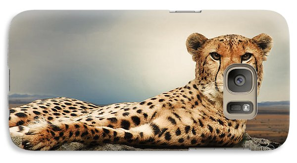 Galaxy Case featuring the photograph The Cheetah by Christine Sponchia