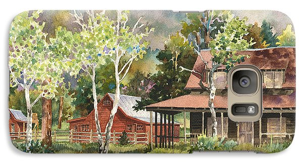 Galaxy Case featuring the photograph The Delonde Homestead At Caribou Ranch by Anne Gifford
