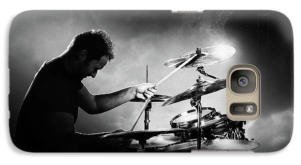 Drum Galaxy S7 Case - The Drummer by Johan Swanepoel