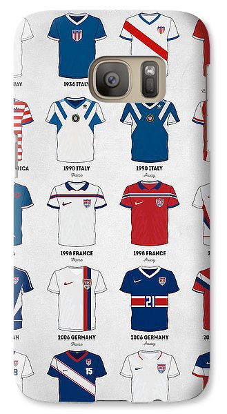 The Evolution Of The Us World Cup Soccer Jersey Galaxy Case by Taylan Apukovska