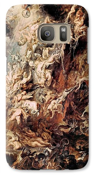 Galaxy Case featuring the painting The Fall Of The Damned by Peter Paul Rubens