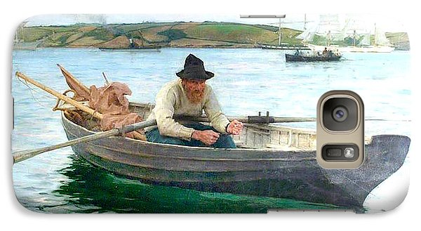 Galaxy Case featuring the painting The Fisherman by Henry Scott Tuke