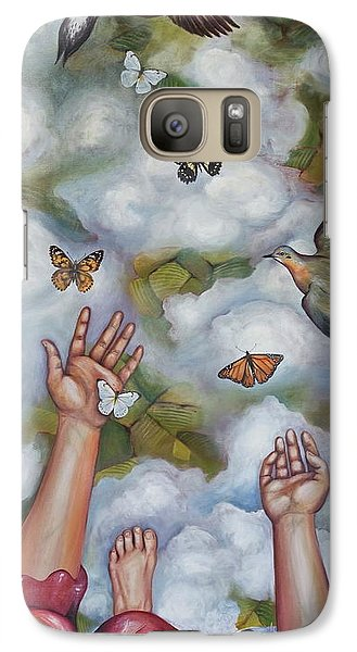 Galaxy Case featuring the painting The Gift by Sheri Howe