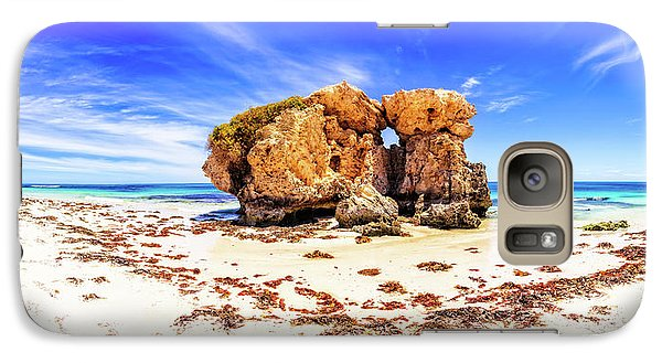 Galaxy Case featuring the photograph The Sentry, Two Rocks by Dave Catley