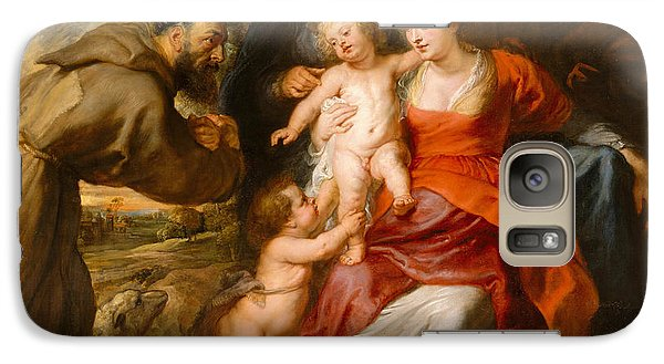 Galaxy Case featuring the painting The Holy Family With Saints Francis And Anne And The Infant Saint John The Baptist by Peter Paul Rubens