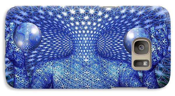 Galaxy Case featuring the painting The Invention Of Duality by Robby Donaghey