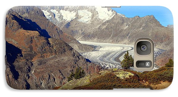 The Large Aletsch Glacier In Switzerland Galaxy S7 Case