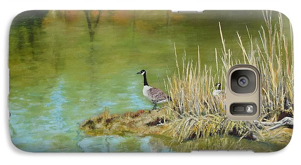 Galaxy Case featuring the painting The Lookout by Sandra Nardone