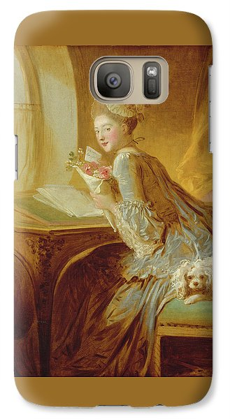 Galaxy Case featuring the painting The Love Letter by Jean Honore Fragonard