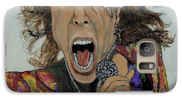 Galaxy Case featuring the painting The Madman Of Rock.steven Tyler. by Ken Zabel