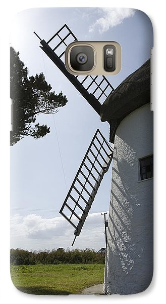 Galaxy Case featuring the photograph The Old Irish Windmill by Ian Middleton