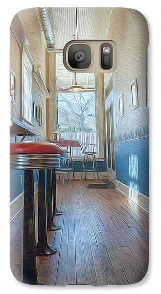 Galaxy Case featuring the photograph The Pie Shop by Dan Traun