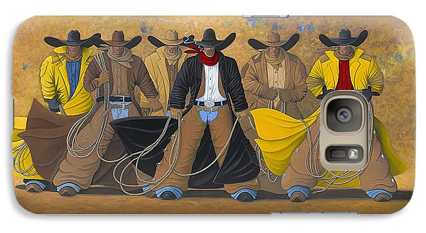 Galaxy Case featuring the painting The Posse by Lance Headlee