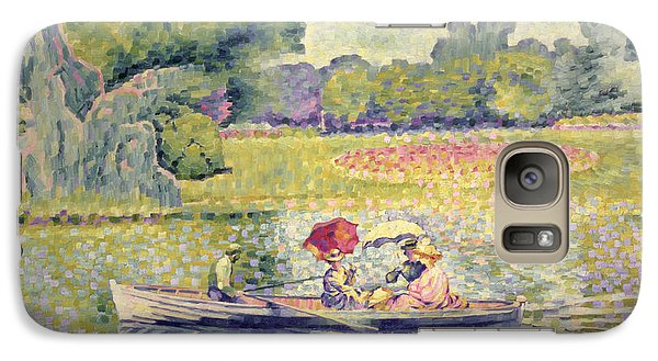 The Promenade In The Bois De Boulogne Galaxy S7 Case by Henri-Edmond Cross