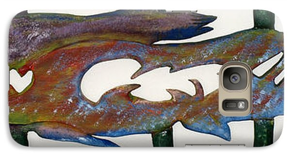 Galaxy Case featuring the mixed media The Prozak Fish by Robert Margetts