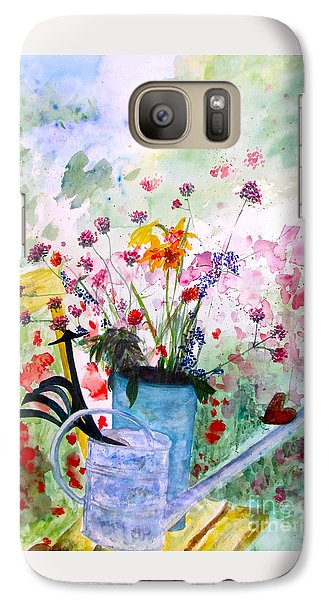 Galaxy Case featuring the painting The Resting Place by Beth Saffer