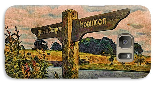 Galaxy Case featuring the digital art The Road To Hobbiton by Kathy Kelly