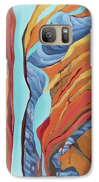 Galaxy Case featuring the painting The Rocks Cried Out, Zion by Erin Fickert-Rowland