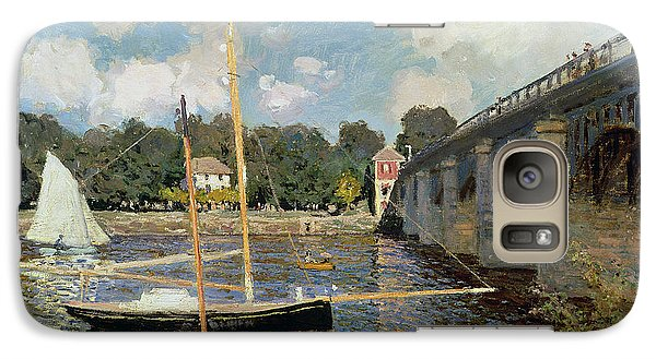 Boat Galaxy S7 Case - The Seine At Argenteuil by Claude Monet