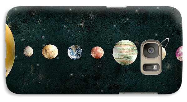Galaxy Case featuring the painting The Solar System by Bri B